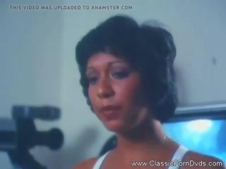 brunette vid, hot retro thumbnail, most threesome clip