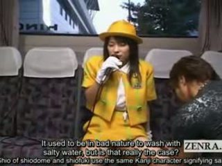 Subtitled Explosive Orgasm Lewd Japanese Tour Bus Guide