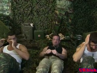 Brit Army Jock Group Sex With Cum Loads