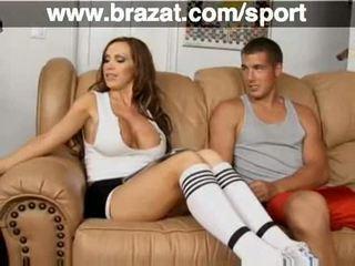 groot video-, brunette, bigtits kanaal