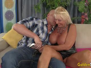 Floppy Titted Grandma Fucks a Bald Guy, Porn c3