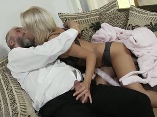 Mandy Dee and an Old Grandpa