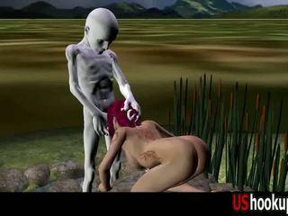 3d rousse baisée par an alien partie