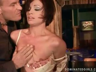 Hot MILF Szilvia Lauren gets bondaged and fucked