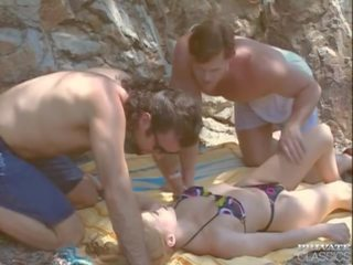 Monique Covet DP Trio by the River, Free Porn ac