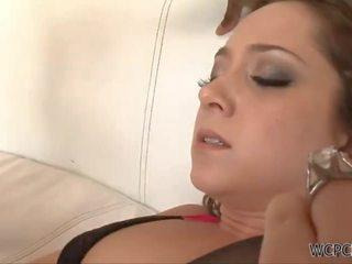 brunette, japanse kanaal, mooi orgasme actie