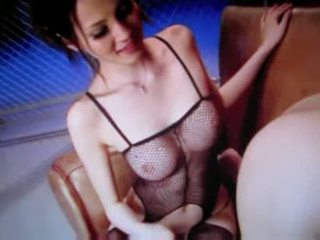 Hot japanese babe eating guys ass and jerks him off