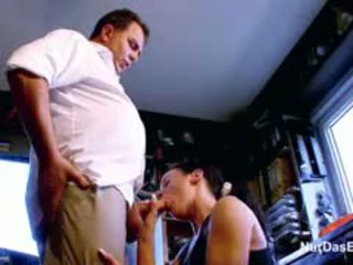German Mother And Daughter Fuck Step-Dad On Work