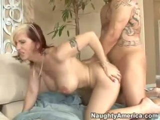 Fuck loving momma Brittany Blaze getting screwed on her twat and loves it