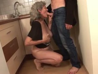 Granny Banged in the Kitchen, Free Granny Porn 97