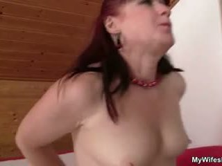 Lusty Mature Bitch Rides Son in Law Cock, Porn ab