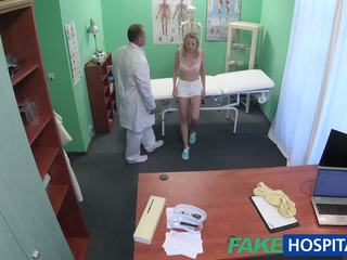Fakehospital Cute Blonde Patient gets Pussy Exam then