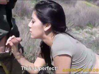 Latynoska kimberly gates banged przez border patrol oficer
