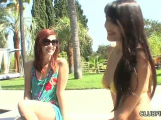 Elle Alexandra And Sophia Jade Sun Friends And Wet Pussy