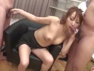 Anna Mizukawa Pumped and Made to Swallow Fresh Jizz...