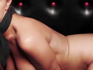 ideaal brunette, een kaukasisch, mooi striptease neuken