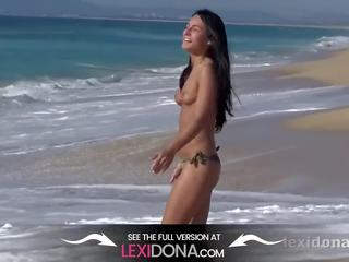 Fit Body - Watch me have fun on the beach before I masturbate