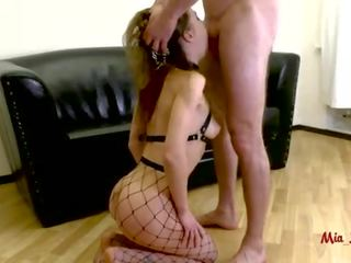 SUBMISSIVE ANAL SLUT GETS ASS TO MOUTH FUCKED ON A LEASH. MIA BANDINI