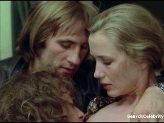 csókolózás, kaukázusi, híresség, kis mell