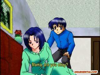 Malaking suso anime ina Mainit pagsakay titi