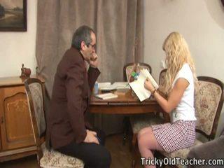 busty blonde katya, old man, blonde hammered