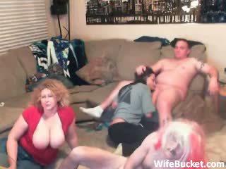 sexo grupal, maduro, amador