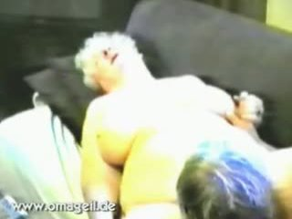 Old Gray Haired Husband Licks His Old Mature Housewife