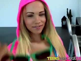 Natural big tits Britney Young facialed