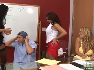 big boobs, dideli papai, biuras