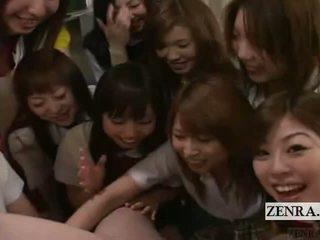 Subtitled ผู้หญิงใส่เสื้อผู้ชายไม่ใส่เสื้อ pov ญี่ปุ่น เด็กนักเรียนหญิง กลุ่ม องคชาติ เล่น