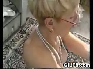 big boobs, striptease, granny