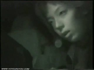 Di luar malam kereta seks oleh infrared camera