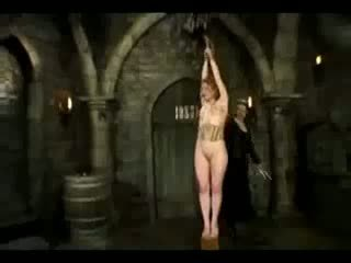 Girl In Costume Spanked Getting Tied Up Whipped By Mistress In The Dungeon