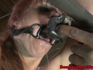 Ràng buộc, thống trị, tánh bạo dâm, khổ dâm sub bella rossi trừng phạt với clamps