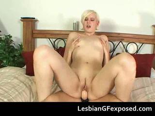 sex lesbiene, porno amatori, fata porno și bărbați în pat