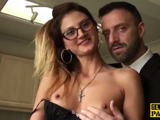 Cumswallowing del analized en spanked raw