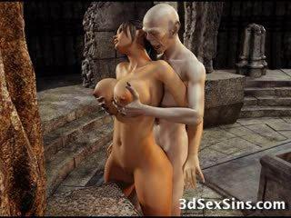 3D Zombie Fucks Lara Croft!
