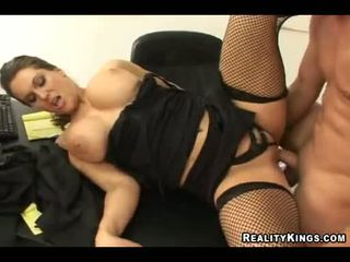 Babe Elle Cee Gets Her Hawt Pussy Rocked With Large Throbbing Cock