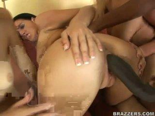 Sexy bitches partilhar maciço negra boner