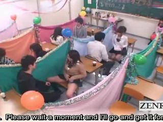Subtitled japan schoolgirls kelas masturbation cafe