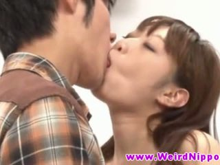 Jong japans tiener hottie banged in gek spelletje
