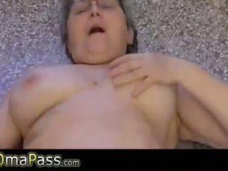 masturbating, naked, old
