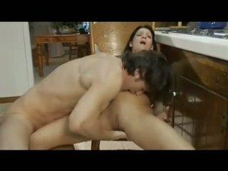 porn stars, small tits, kitchen