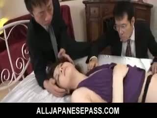 Rina koizumi panas warga asia model dalam seksi stoking gets fucked