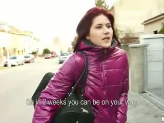 Redhead chick pulled in public and boned