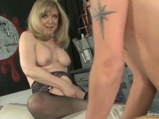 Nina hartley bounces haar moist p.