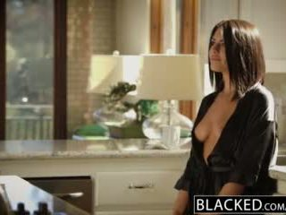 Blacked brunette adriana chechik takes trio van bbcs