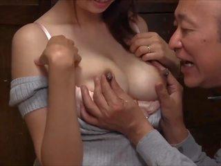 japanse, man, oud