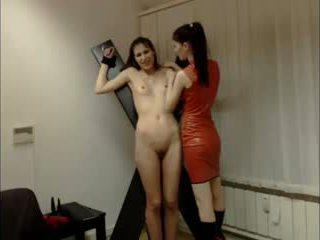 Lesbisch domina session auf kamera