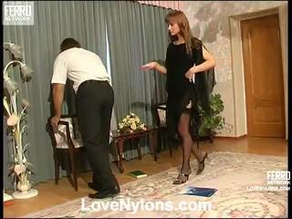 Diana ja lesley videotaped whilst having nylonsex